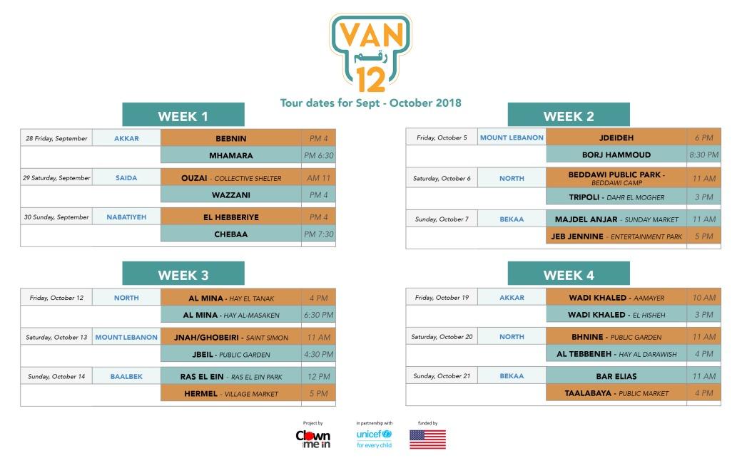 VAN12 Schedule